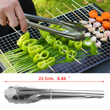 9Inch Stainless Steel Buffet Salad Bread Food Tongs Clip Kitchen Clamp Serving