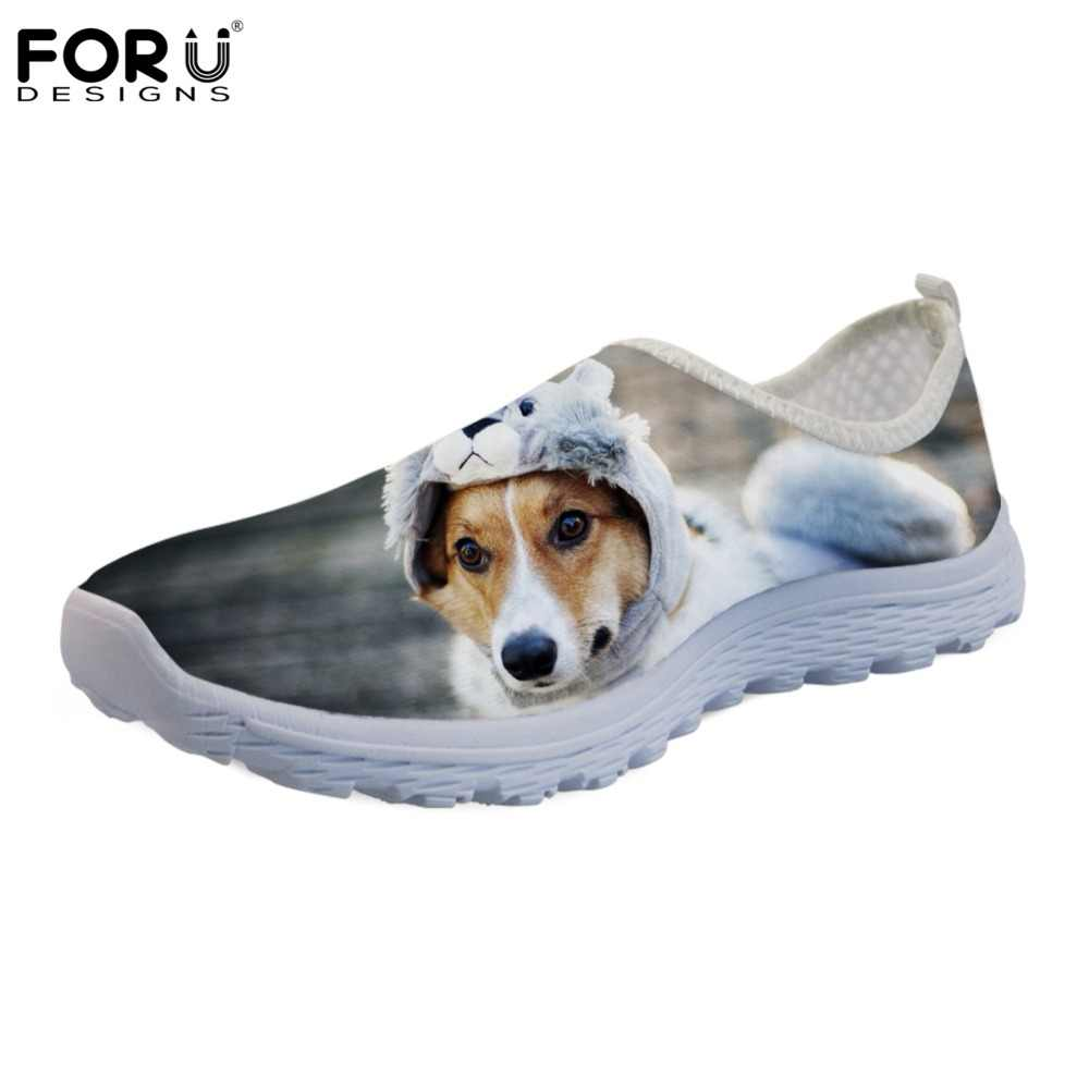 42a666fa31c Detail Feedback Questions about FORUDESIGNS Cute Flats Shoes Women Animal  Dog Jack Russell Terrier Print Casual Women s Sneakers Summer Fashion  Zapatos ...