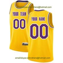 bf186821c6e 2zbrothers China OEM Factory Custom Basketball Jerseys Los Angeles Gold Black  Men