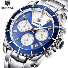 BENYAR High Quality Chronograph Men's Watch Date Waterproof Sport Mens Quartz Wristwatch Luxury Gift reloj Relogios masculino