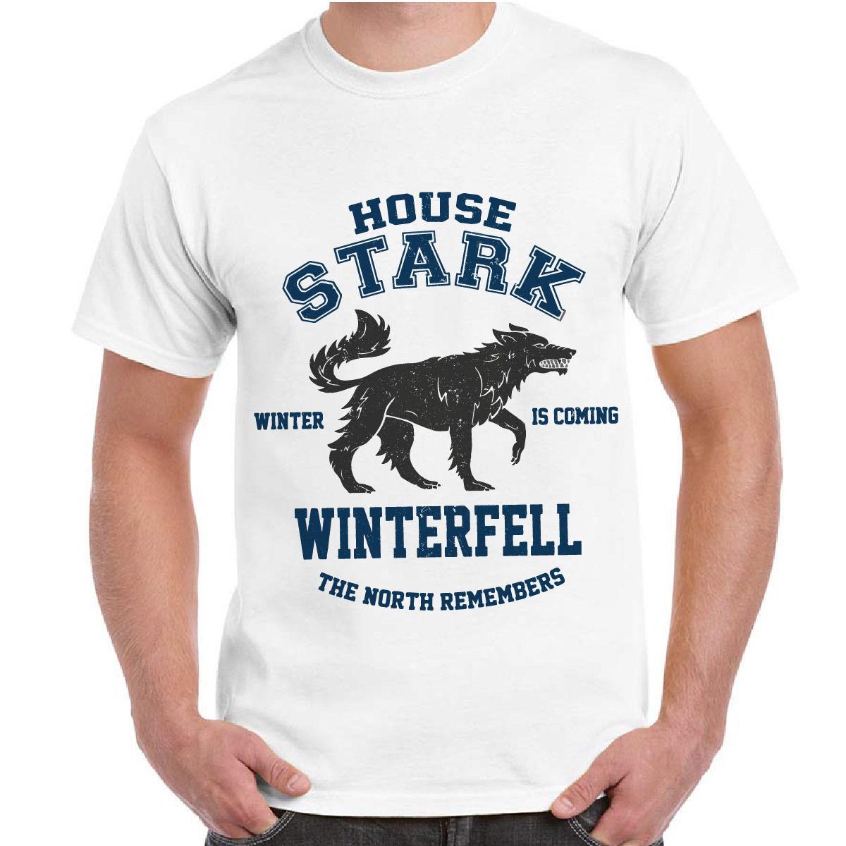 2018 Fashion Style T-Shirt Serie TV Game of Thrones Il Trono Di Spade Grande Inverno Uomini Uomo T-Shirt Maglietta