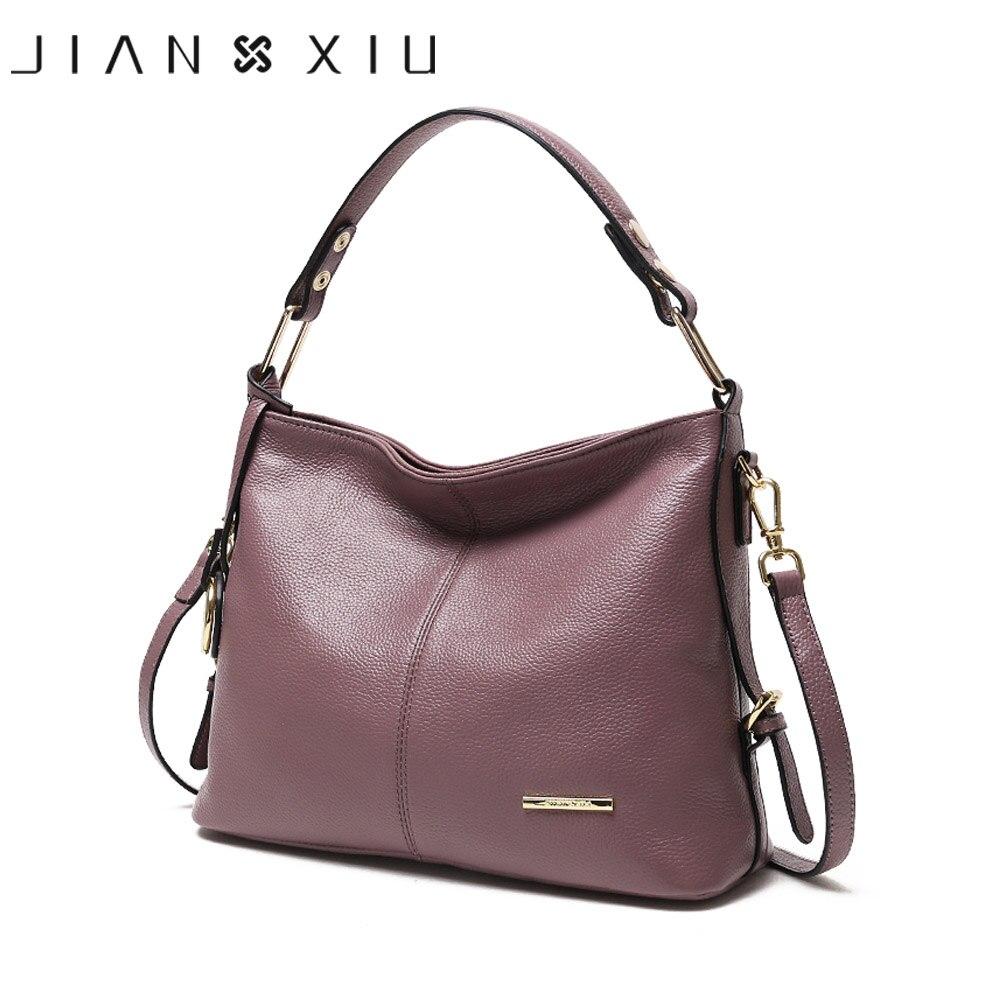 JIANXIU Brand Genuine Leather Bag Luxury Handbags Women Bags Designer Handbag 2018 Newest Fashion Women Tote