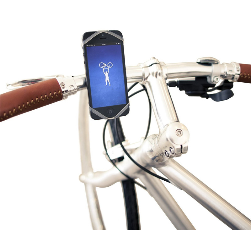 Universal Silicon Smartphone Bike Mount Cell Phone Holder Fits for iPhone Samsung HTC and Every Bike
