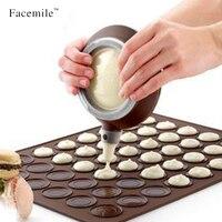 Macarons Кексы Силиконовые формы для выпечки 48 отверстий Коврики Плесень лоток десерт Отделка Советы Крем Сжатие сопла набор инструментов