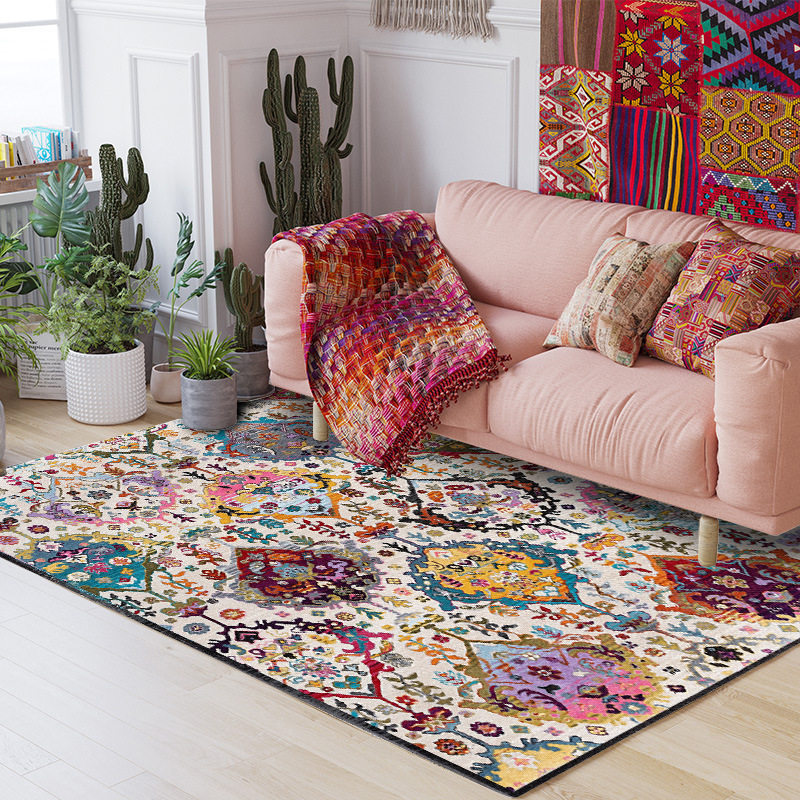 2019 HOT 1-piece Bohemia Carpet for Living Room Area Rug Short Plush Bed Room Carpet Large Size Slipping Resistance Kitchen Rug2019 HOT 1-piece Bohemia Carpet for Living Room Area Rug Short Plush Bed Room Carpet Large Size Slipping Resistance Kitchen Rug