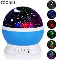 Tooniu Rotating Night Light Projector Spin Starry Sky Star Master Children Kids Baby Sleep Romantic Led