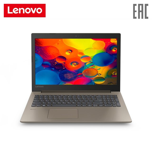 "Ноутбук lenovo 330-15AST 15,6"" FHD/A4-9125/4 ГБ/128 Гб SSD/noDVD/DOS коричневый (81D600KGRU)"