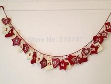 Free shipping 2.9-3m Activities Scene Arrangement Handmade Calendar String Diy Christmas decoration 1pcs/lot 18010013(2.9-3H1)