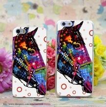 1526W Horse Transparent Hard Case Cover for iphone 7 7 Plus 6 6s plus 4 4s