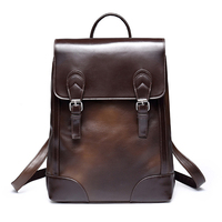 Brand New Arrival 2017 Male Bags High Quality Fashion Men Backpack PU Leather Backpack Big Capacity