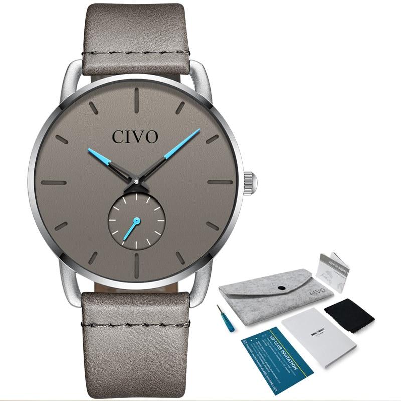 CIVO 2019 Новая модель для мужчин,  повседневные водонепроницаемые кварцевые мужские наручные часы. Бренд Relogio Masculino