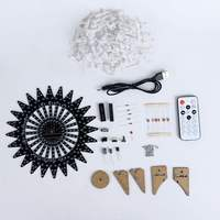 NEW Ferris Wheel Model Music Spectrum DIY Kit Electronic 51 Single chip Colorful LED Flash Kit Module