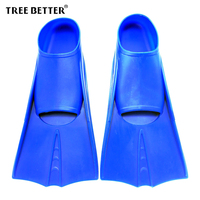 TREE BETTER Swimming Fins Full Silicone Snorkeling Diving Fins Professional Training Flippers Flexible Submersible Shoe XS
