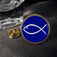 High quality Jesus Fish Lapel Pin Badge  low price custom metal religious lapel pin FH680049