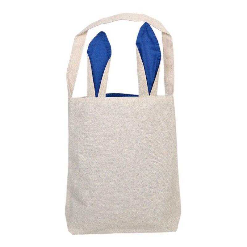 Easter Bunny Bag Reusable Rabbit Ear Novelty Design Egg Basket Sacks DIY Hand-pa
