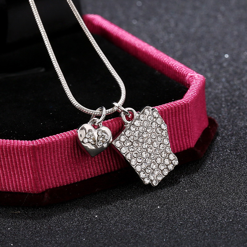 Kittenup Heart Shape Simple Style Map Jewelry Pendant Necklace For Women Gift In Georgia Alabama Kentucky United States