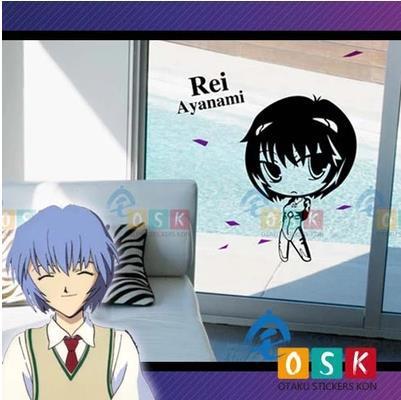 Pegatina аниме мультфильм автомобиль Стикеры Евангелион Ayanami Rei стены винила Стикеры s Наклейка Декор дома