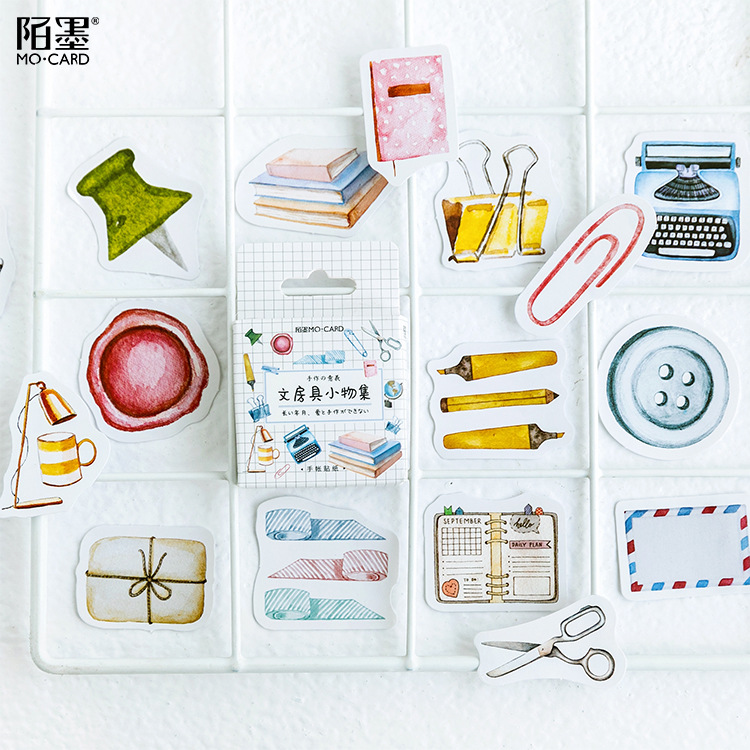 46 Pcs/pack Study Stool Decorative Stickers Scrapbooking Stick Label Diary Stationery Album Stickers