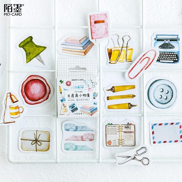 46 Pcs/pack Study Stool Decorative Stickers Scrapbooking Stick Label Diary Stationery Album Stickers