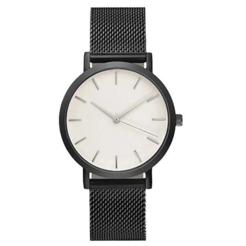 Uhren Relogio Feminino Top Marke Männer Uhren Mode Edelstahl Analog Quarz Armbanduhr Dame Luxus Mesh Band Armband Uhr # N Ausgezeichnet Im Kisseneffekt