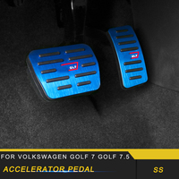 For Volkswagen Golf 7 Golf 7.5 Car Styling Accelerator Rest Brake Pedal Cover Trim Frame Sticker Interior Accessories