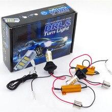 2x Dual Color 42SMD 2835 Blanco + Ámbar/hielo bule 1156 BA15S T20 7440 LED Bombillas Para Luces de Giro Frontal DRL Error Gratuito Canbus
