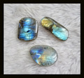 SALE 3 Piece Natural Stone Labradorite Cabochon,30x13x5mm,23x19x5mm,12.68g