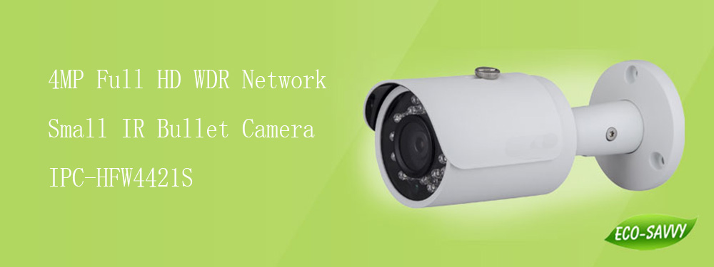 Free Shipping DAHUA Security IP Camera 4MP WDR Network Small IR Bullet Camera IP67 without Logo IPC-HFW4421S free shipping dahua security ip camera 2mp full hd wdr network small ir bullet camera outdoor camera without logo ipc hfw4221e