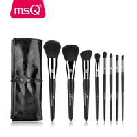 MSQ Professional 8pcs Makeup Brushes Set Copper Ferrule Powder Foundation Eyeshadow Eyeliner Lip Brush Tool With