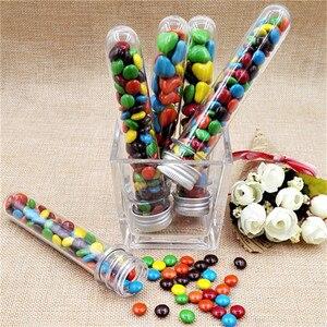 10pcs/lot 40ml Plastic Test Tube Skittles Candy Box Baby Shower Handmade Candy Box Birthday Party Decor Gift Box(China)