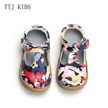 COPODENIEVE Top Brand Quality Genuine Leather Children toddler girl kids Shoes For Fashion Barefoot Sneaker Mary Jane Free Ship