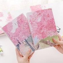 """""""Sakura kedi eskiz defteri"""" büyük boy çizim not defteri Kawaii sevimli günlük defteri dizüstü kırtasiye hediye"""
