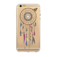 2017 The Newest Fashion ultra thin cartoon perfume flower wreath feather penguin bird skull soft clear tpu case skin For Iphone