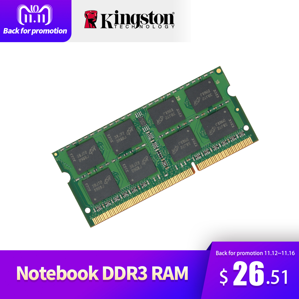 Kingston Ram D'origine Portable RAM 1600 mhz 4 gb 8 gb 1.35 v DDR3 SODIMM Véritable Carte Mère Intel Mémoire RAM pour Ordinateur Portable Bâton Ram