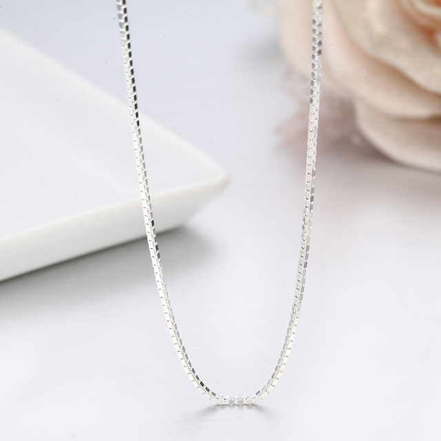 UNISEX MADE IN ITALY 925 sterling silver 1.2mm HE SHE 40 to 60cm CHAIN NECKLACE