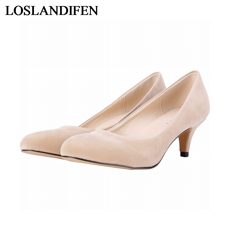 New Women Thin Heel Pumps Fashion Red Green High Heels Women Work Shoes Flock Classic Office Heels Ladies Shoes NLK-C0043 fashion women pumps flock high heels