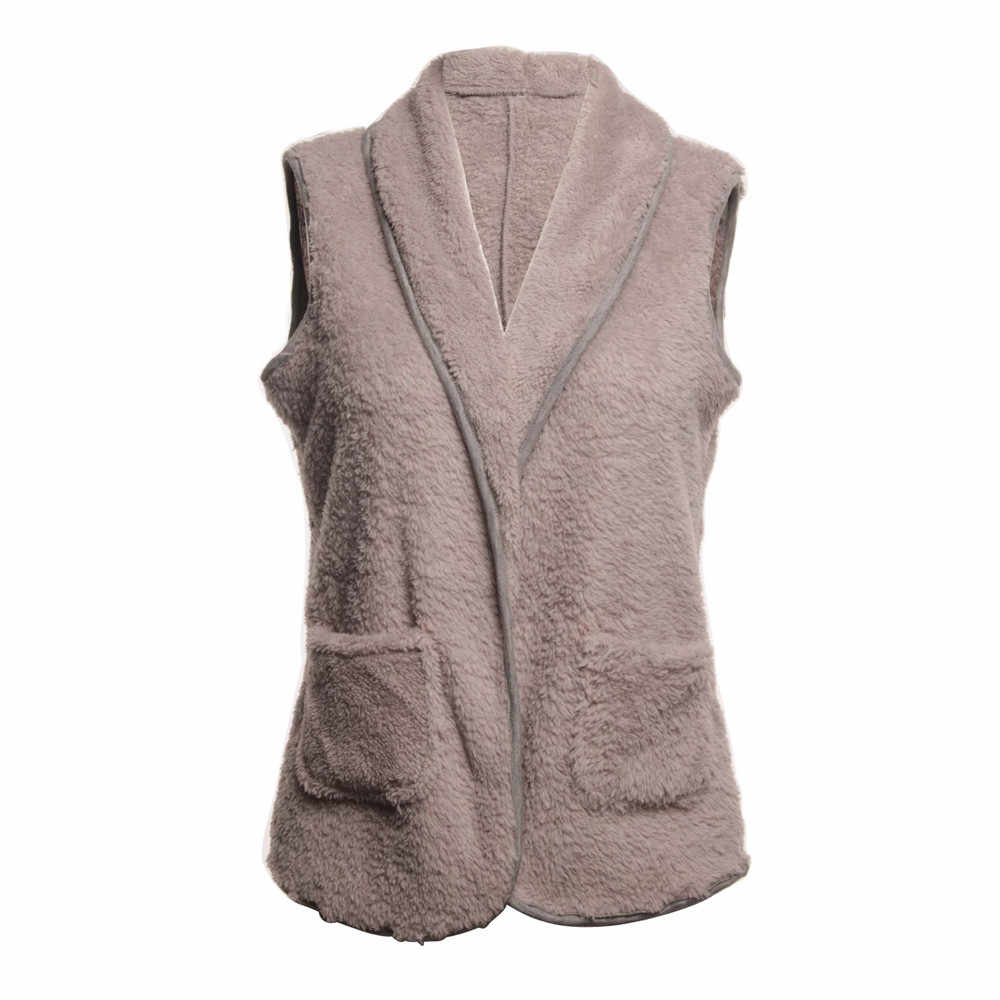 6115c24a0be ... Srogem Winter Bodywarmer Women Fleece Vest Hoodie Polly Pocket Sherpa  Colete Feminino Gilet Femme Bayan Yelek ...