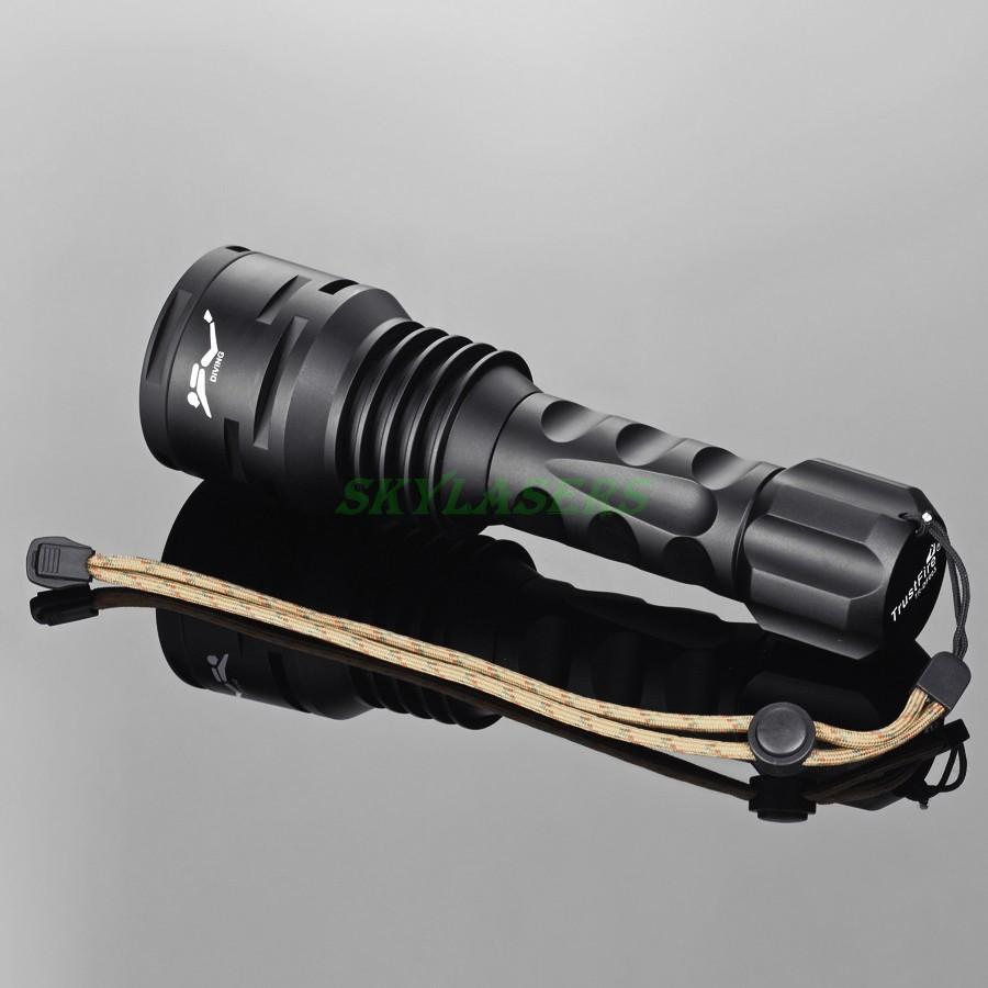 TrustFire DF003 Diving Flashlight 100m Underwater 3000 lumen 3T6 3 x CREE XM-L T6 Waterproof LED Torch &2*26650 Battery&Charger