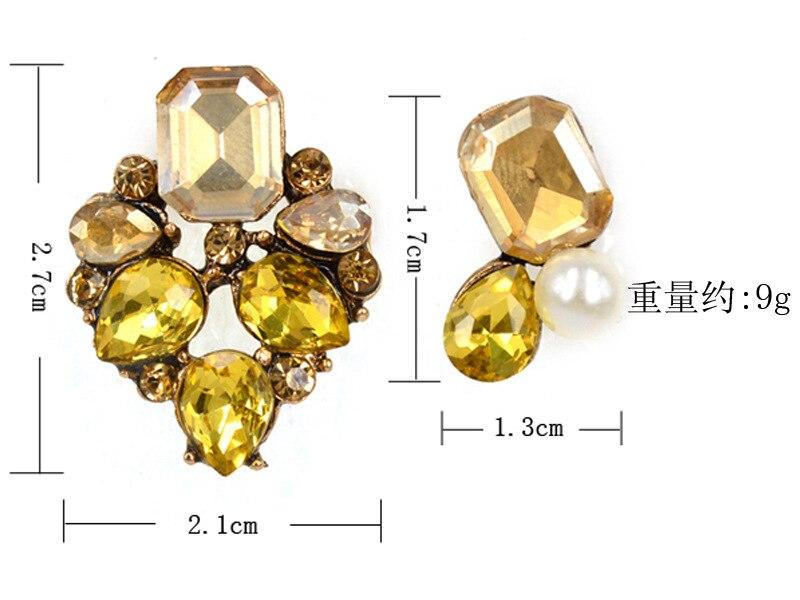 New Grade Crystal Earrings Fashion Personality Korean Zircon Earrings Asymmetric Factory outlets