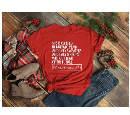 b8fb6f72d0 ... Hipster Arrive Clothing Tee She is clothed in Buffalo Plaid T-Shirt  Slogan Graphic Tops ...