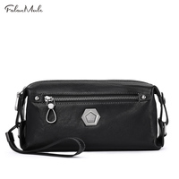 Buy 1 Get 1 Freed Male Clutch Genuine Leather Wallet Men Clutch Bag Clutch Male Wallet