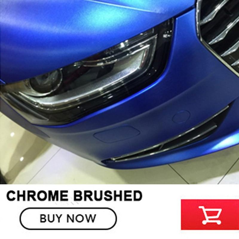 Deep blue Matte Chrome brushed Vinyl Film Matte Chrome Vinyl Wrap Automobiles Car Wrapping with Air Free Bubble most hot colour