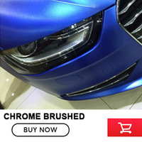 Deep blue Matte Chrome brushed Vinyl Film Matte Chrome Vinyl Wrap Automobiles Car Wrapping with Air Free Bubble most hot colour