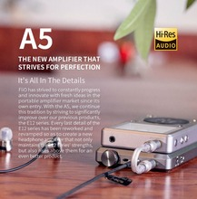 Portable Headphone Amplifier Fiio A5  Dac Amp  Lossless For Mp3 Player Phone Pc Pad EarphoneBundle Small Earpho E12A E12 upgrade