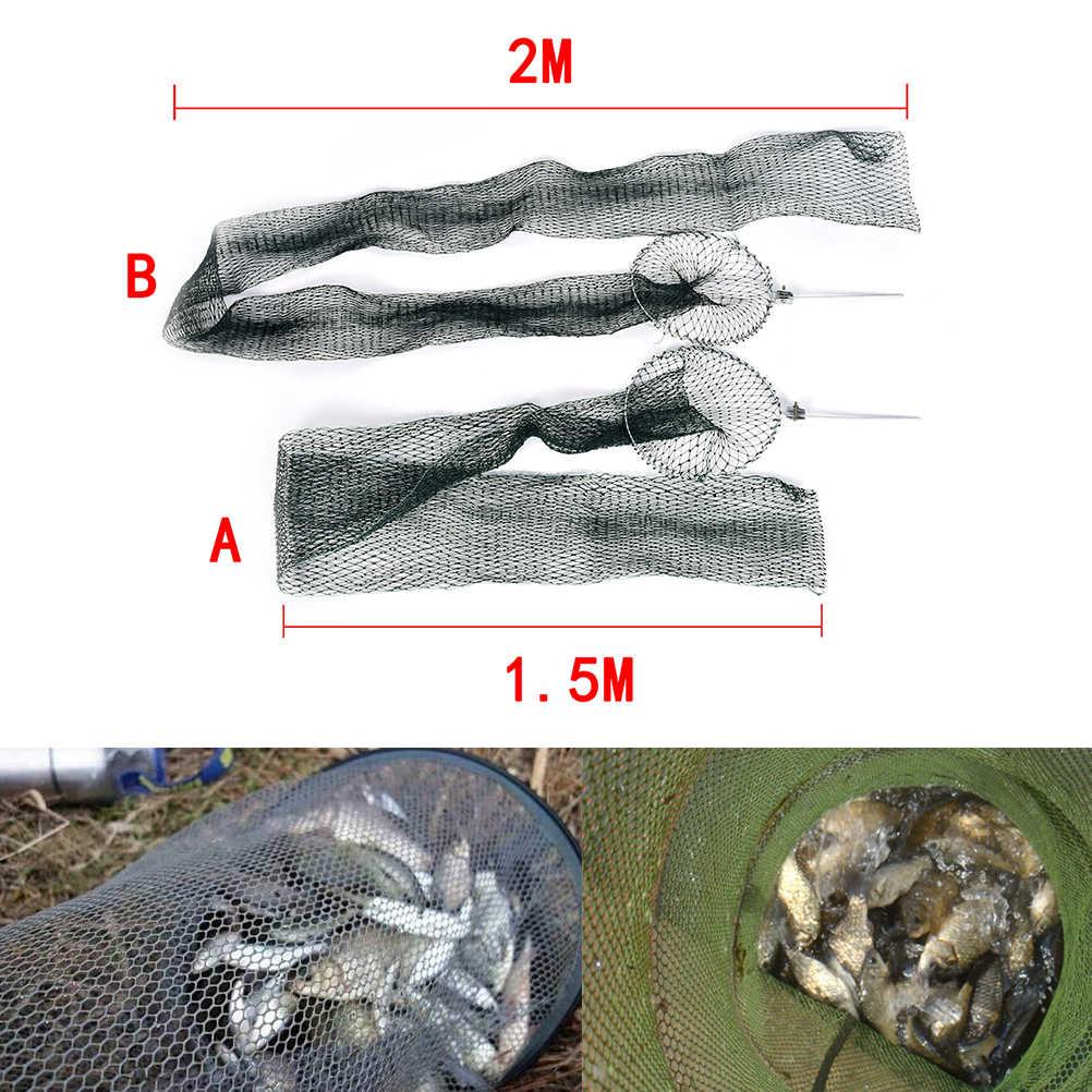 Alta qualidade portátil gaiola de peixe pequena rápida-secagem dobrado redes de pesca enfrentar belo design equipamento de pesca