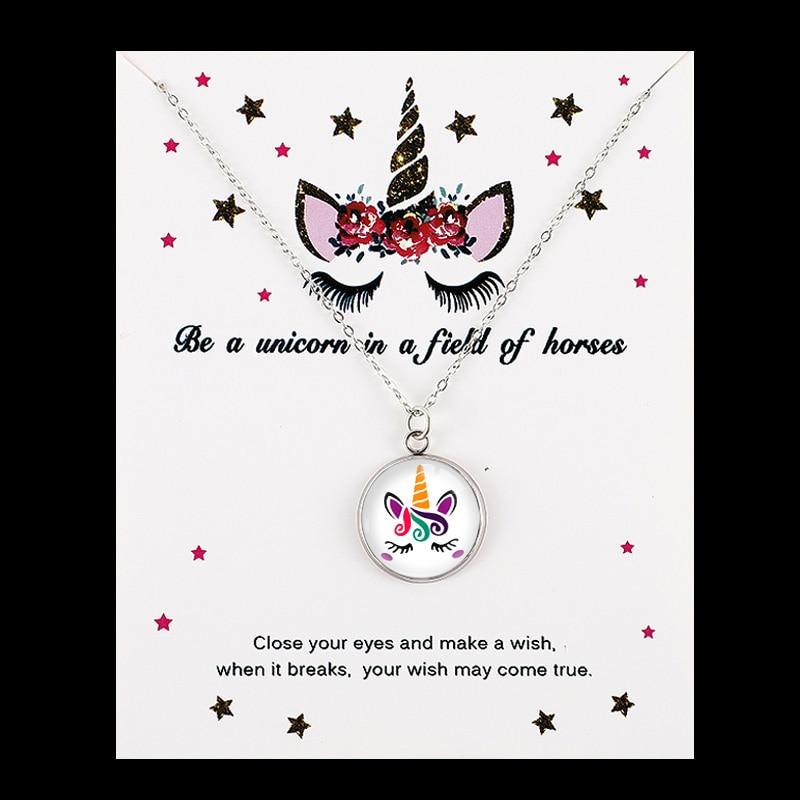 Единорог Лошадь Подвески Ожерелья пчелы с принтом в виде медоносной пчелы, рубашка с изображением фламинго, Русалка 18 мм Стекло кабошон Для женщин, ювелирные изделия для девушек, для вечеринки, дня рождения подарок - Окраска металла: NE1511
