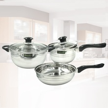 free shipping nonsmoke font b cookware b font set 5pcs combination stainless steel pot general casserole