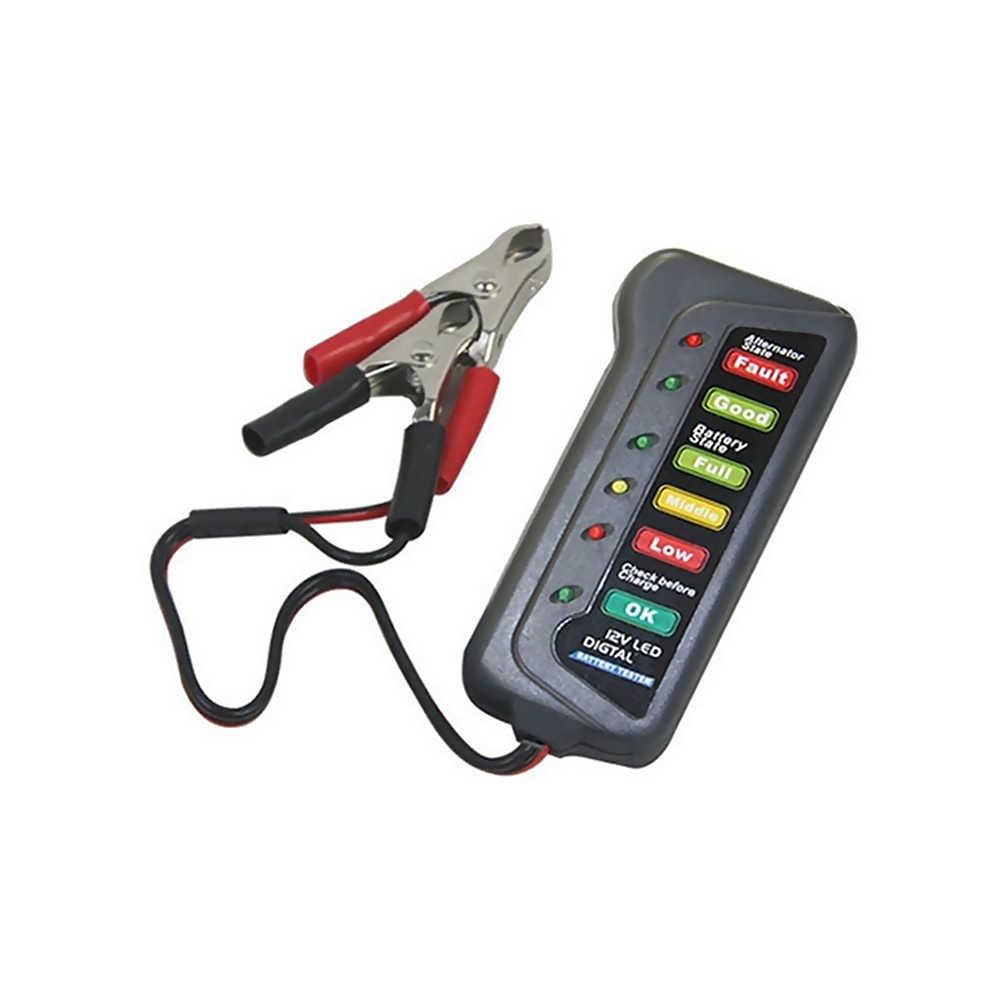 LED デジタルカーバッテリーテスターデジタルオルタネーターテスター 6 Led ライトディスプレイ車の診断ツール自動バッテリーテスターのための車