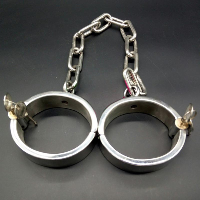 BDSM fetish stainless steel leg irons adult games slave bondage restraints ankle cuffs sex toys for couples torture sex-toys stainless steel leg irons long chain ankle cuffs sex products bdsm bondage restraints sex slave shackles sex toys for couples