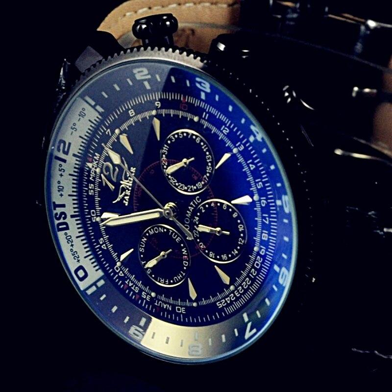 Luxury Brand Jaragar Mens Automatic Watch Date Week Display Leather Mechanical Wristwatch Male Business Clocks Relogio Masculino|Mechanical Watches| |  - title=
